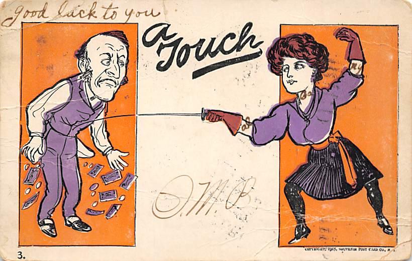 1906 A Touch Postcard