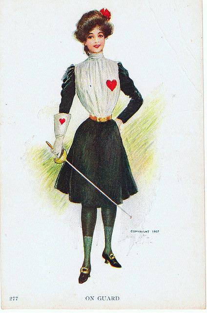 1907 Archie Gunn card On guard