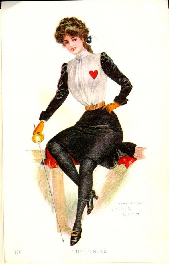 1907 Archie Gunn card the fencer