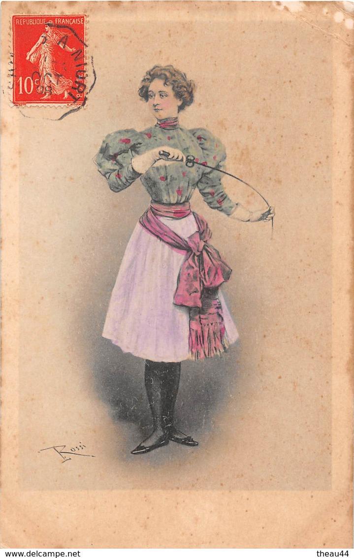 1908 Escrimeuse Rossi