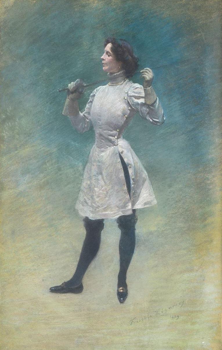 1909 Frederic Regamey L'Escrimeuse