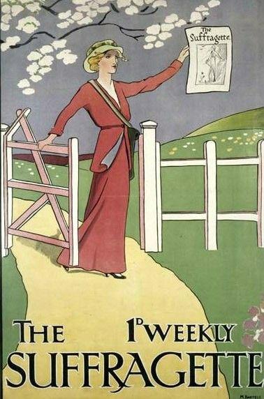 1912 le journal de la femme de l'Union sociale et politique (UPMS) en Grande-Bretagne