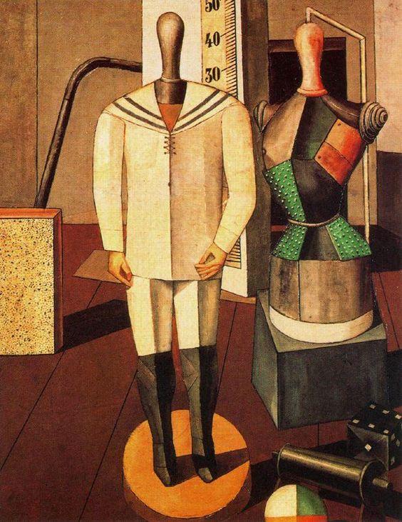 1917, Carlo Carra, Madre e figlio Pinacoteca di Brera, Milan