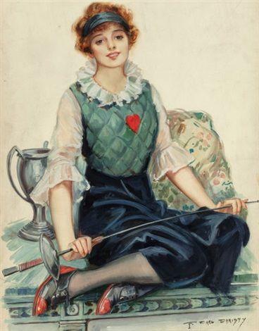 1917 calendar illustration by F. Earl Christy