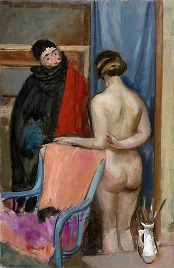 1926 Wojciech Weiss Manekin i modelka