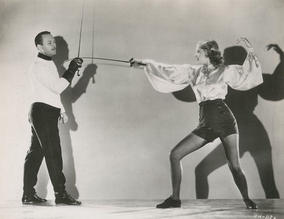 1935 Fred Cavens donnant une leçon à Jane Hamilton