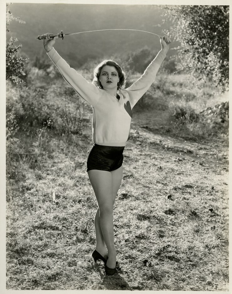 1938 ca Lillian Bond Fencing