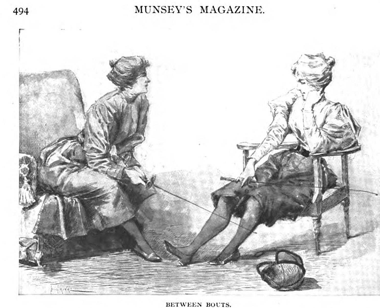 A modern sportswoman, Munsey's Magazine, juillet 1897, p 494