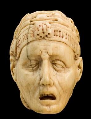 AMARA MEMO Ivory_model_of_half_a_human_head,_half_a_skull,_Europe_Wellcome_L0057079