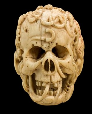 AMARA MEMO Ivory_model_of_half_a_human_head,_half_a_skull,_Europe_Wellcome_L0057080