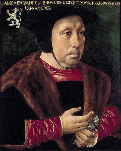 Anoniem, Portret van Adriaen van den Broucke, genaamd Musch, Heer van Wildert