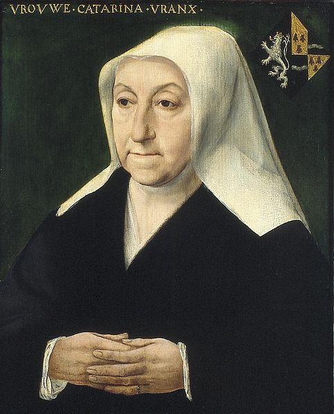 Anoniem, Portret van Catharina Vrancx, echtgenote van Adriaen van den Broucke, genaamd Musch Stedelijk Museum Het Prinsenhof Delft
