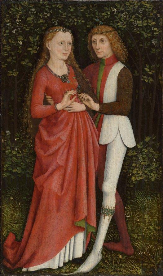 Anonyme 1470 ca, Les Amants bridal couple cleveland museum
