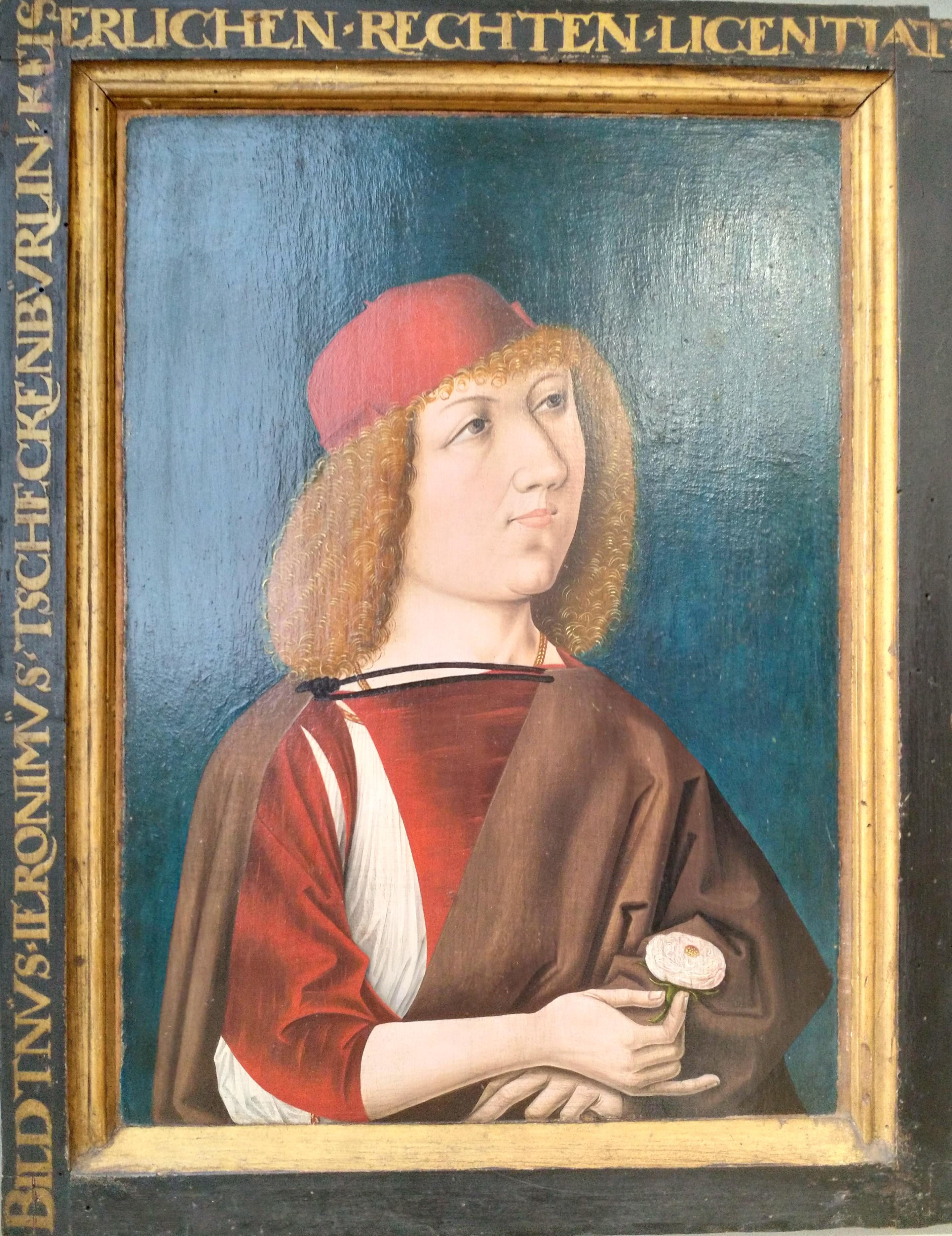Anonyme 1487 Double portrait macabre de Hieronymus Tschekkenburlin, Bale, Kunstmuseum A