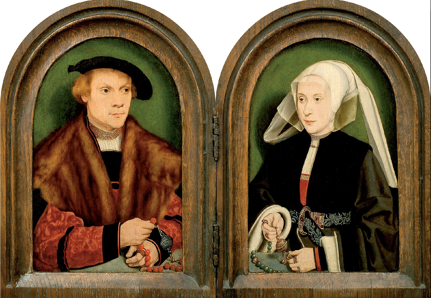 Barthel Bruyn l Ancien 1534 ca Portrait Diptych Of A Bourgeois Couple coll part