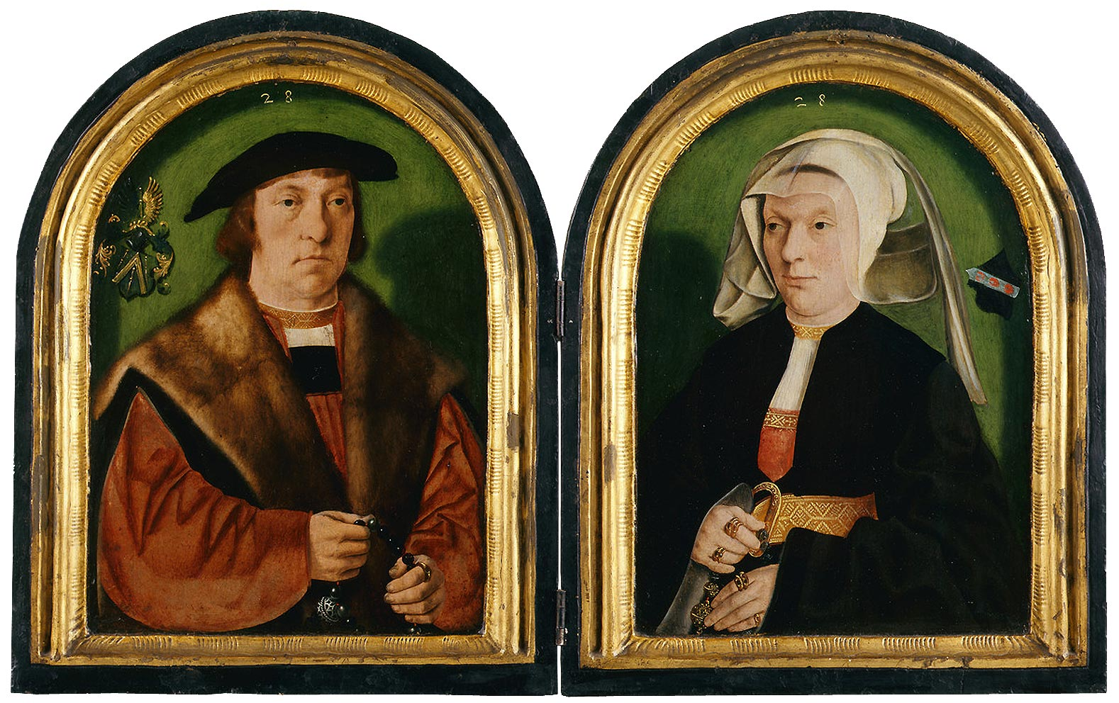 Barthel Bruyn l'Ancien Portrait de Gerhard et Anna Pilgrum 1528, Wallraf-Richartz-Museum, Koln