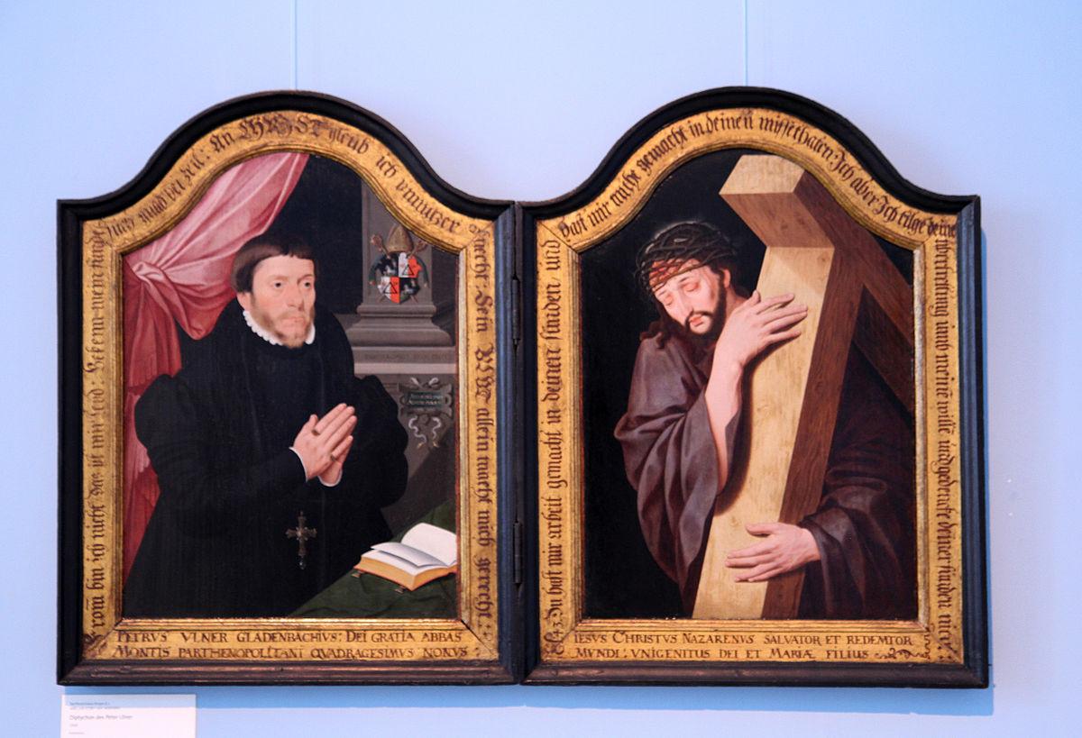 Barthel Bruyn le Jeune Diptyque de Peter Ulner 1560 Provinzial Museum Bonn