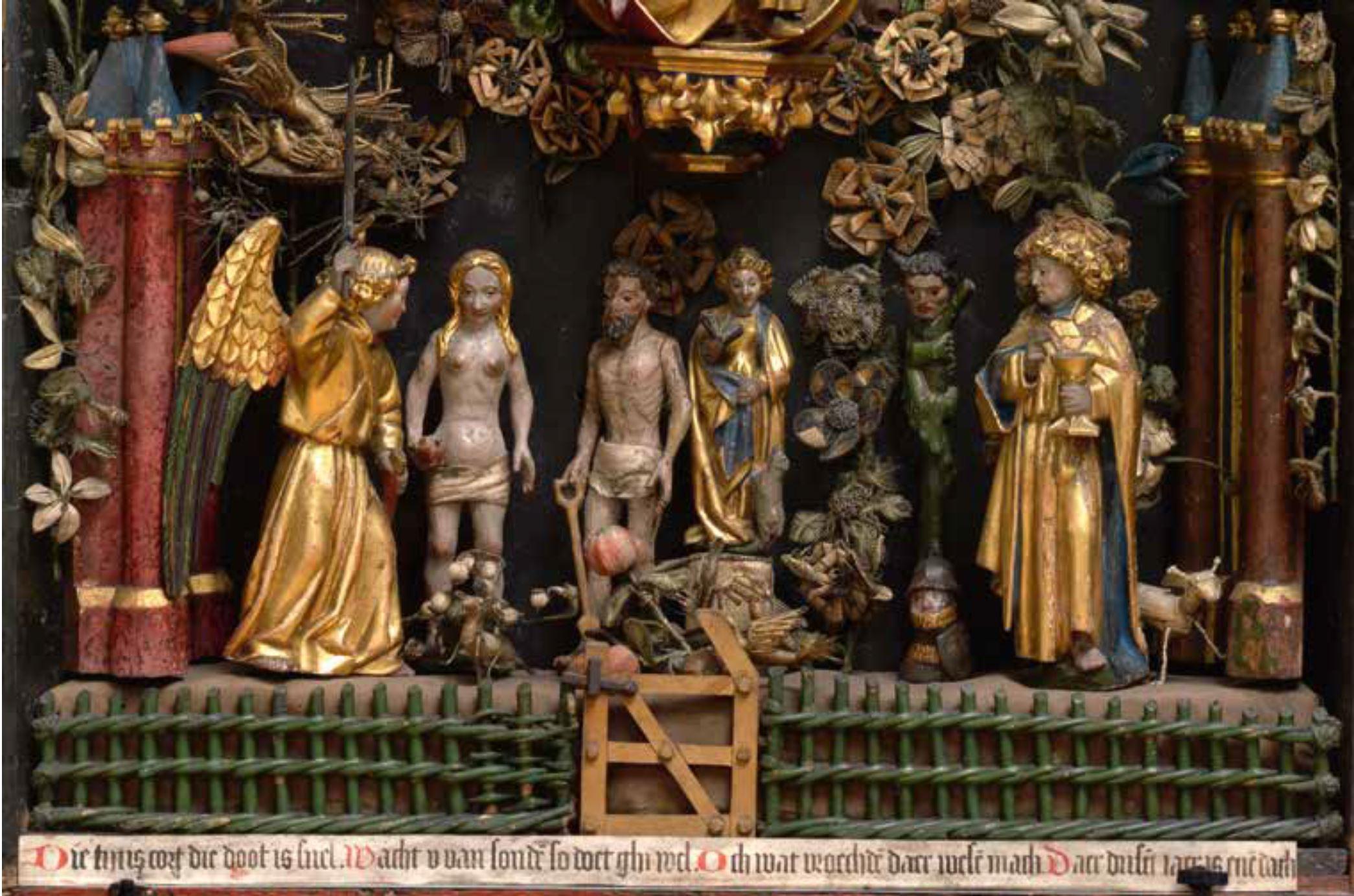 Besloten_hofje,_Anonieme_Meester,_Brabants,1500 ca Koninklijk_Museum_voor_Schone_Kunsten_Antwerpen detail