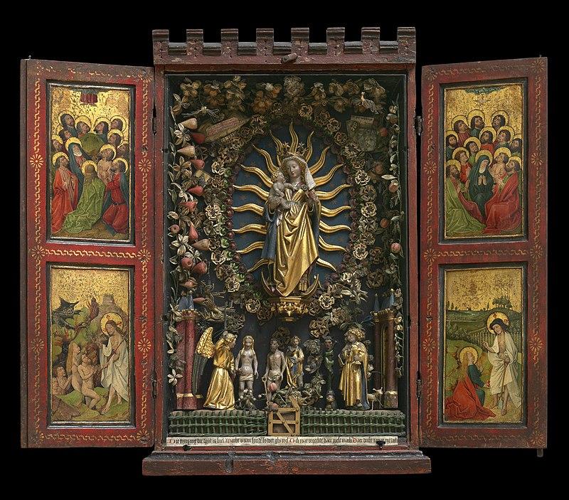 Besloten_hofje,_Anonieme_Meester,_Brabants,1500 ca Koninklijk_Museum_voor_Schone_Kunsten_Antwerpen