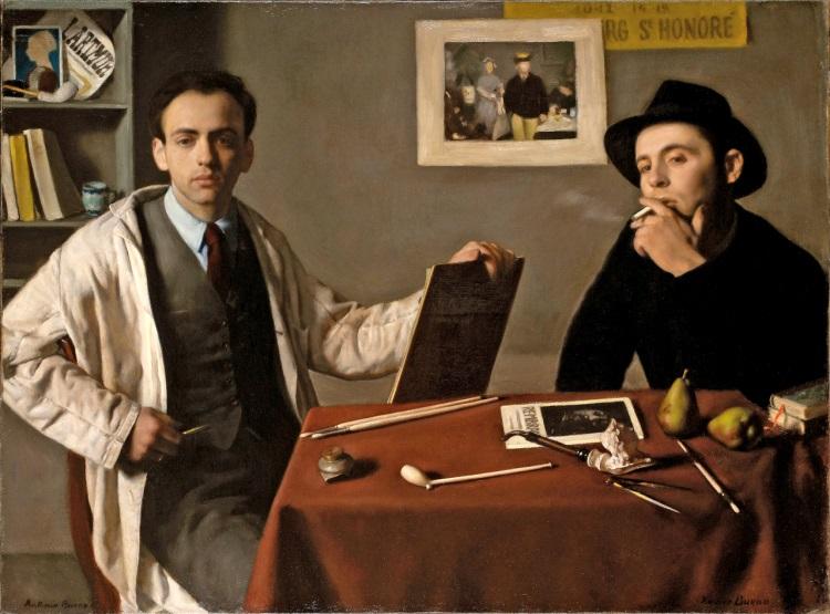 Bueno Antonio e Xavier 1944 Doppio autoritratto Double Self-portrait
