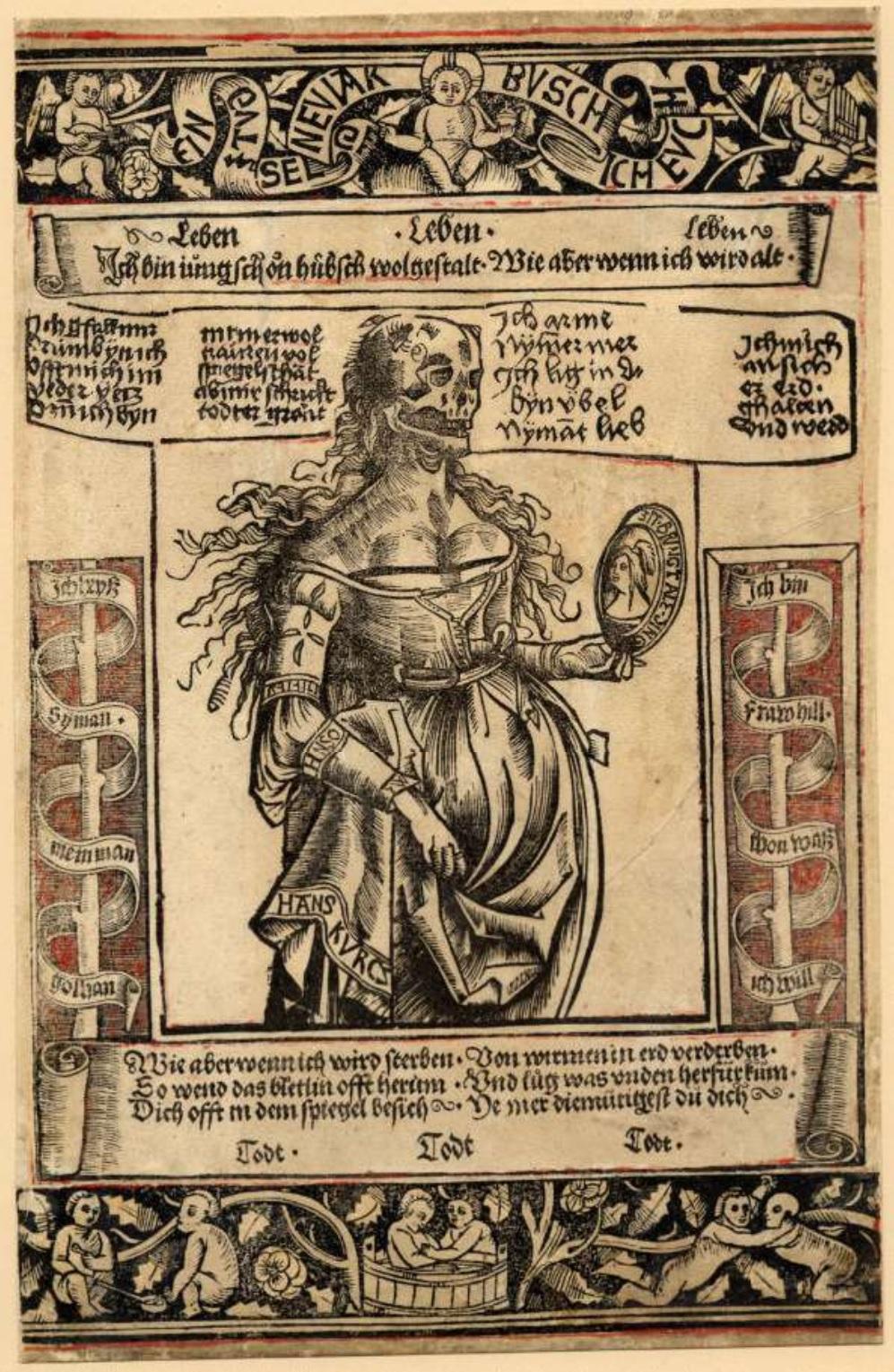 Carte de voeux publiee a Munich 1500-1510 British Museum