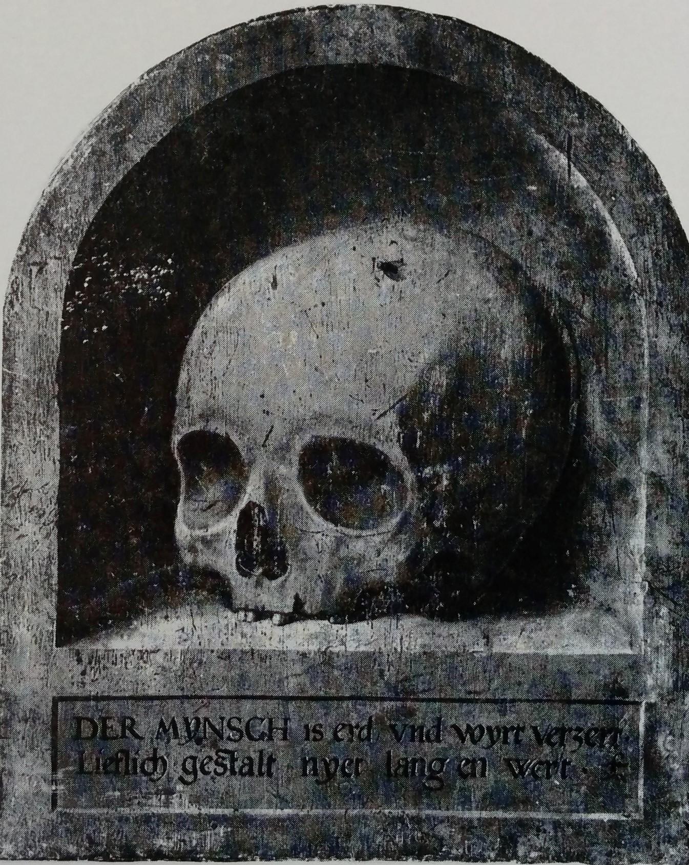 Cercle de Barthel Bruyn l'Ancien 1540-50 revers portrait masculin Jagdschloss Grunewald Berlin