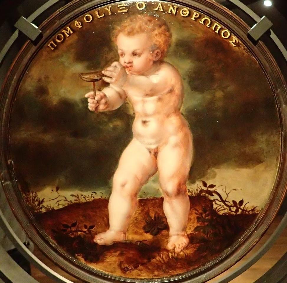 Cornelis Ketel 1574 A Putto Blowing Bubbles Rijksmuseum Amsterdam