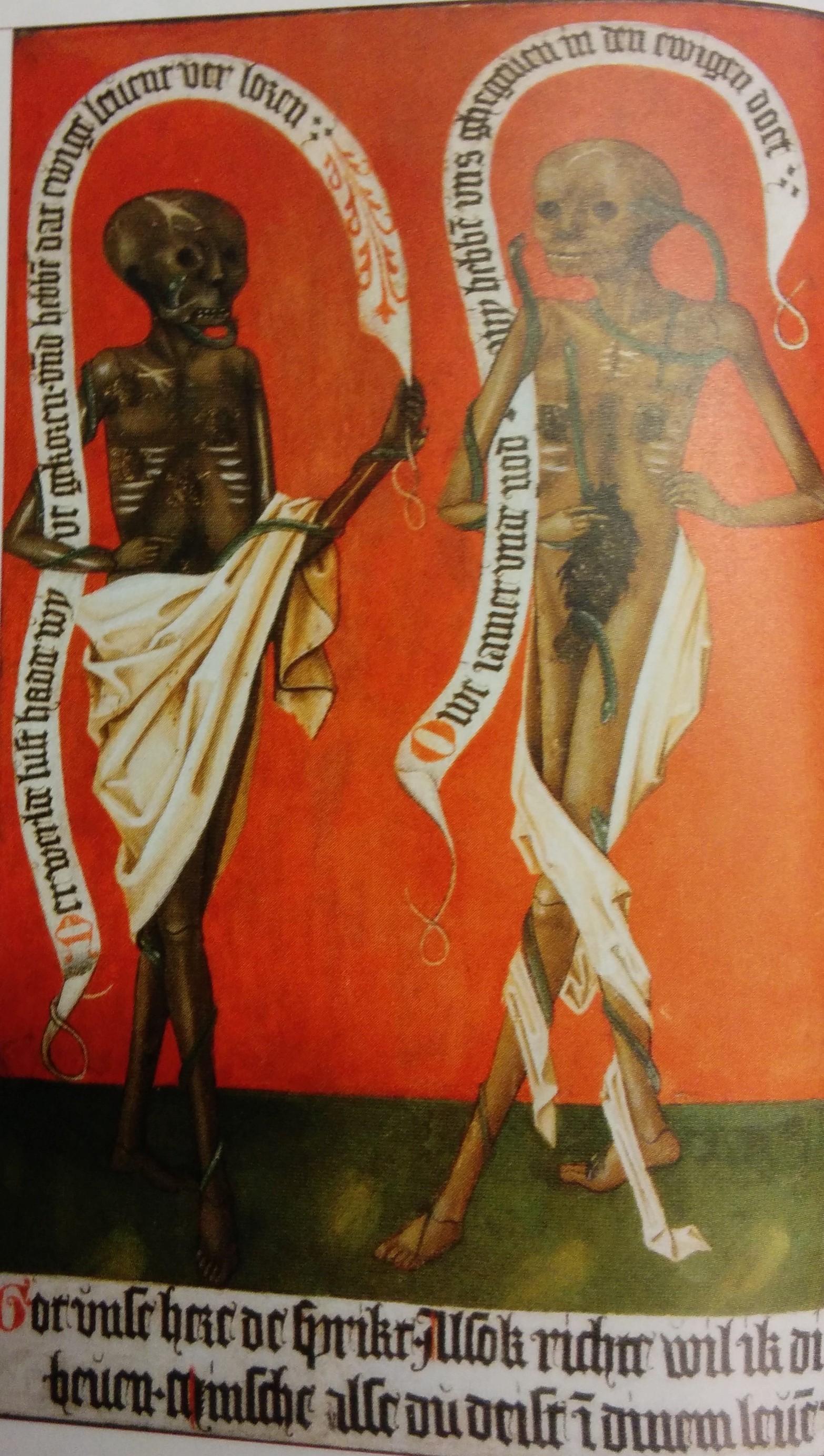 Couple de fiances Eglise de Lauenburg am Elb vers 1500 revers