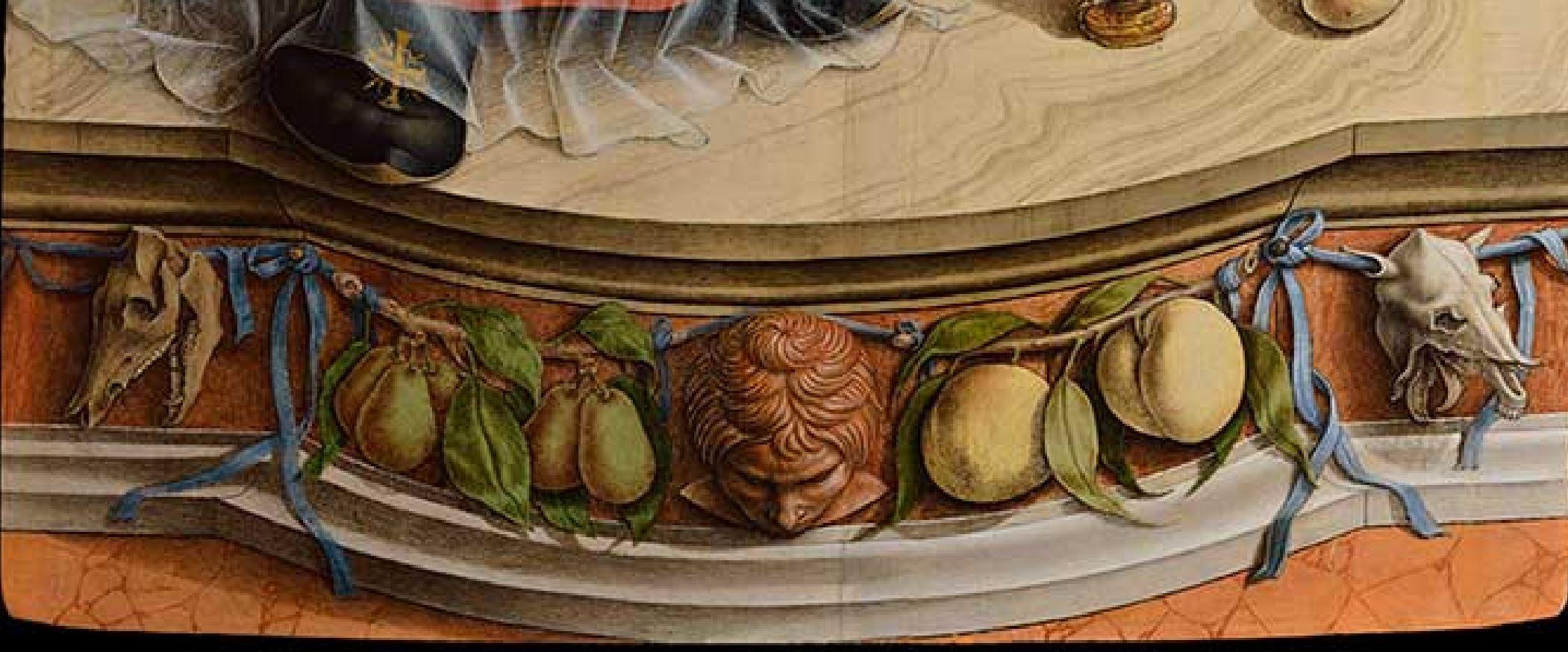 Crivelli, 1482, Tryptique de Saint Dominique, Brera, Milan detail volet gauche