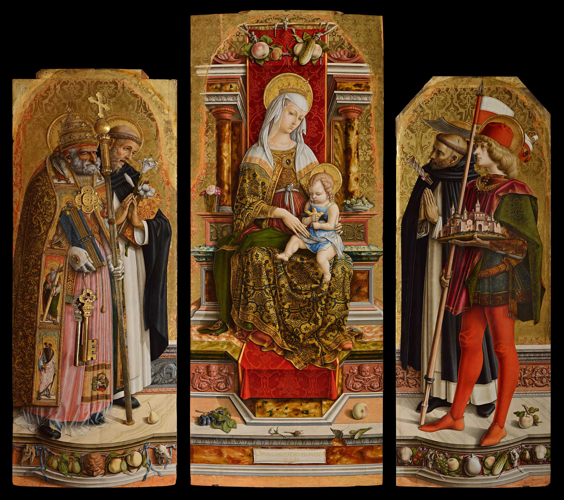 Crivelli, 1482, Tryptique de Saint Dominique, Brera, Milan