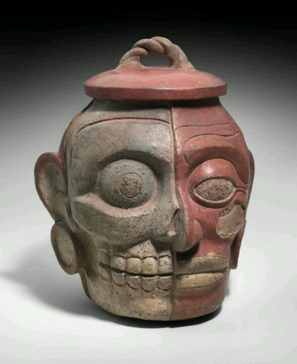 Culture Maya human head effigy pot Ca. 600-850 A.D Boston's Museum of Fine Art