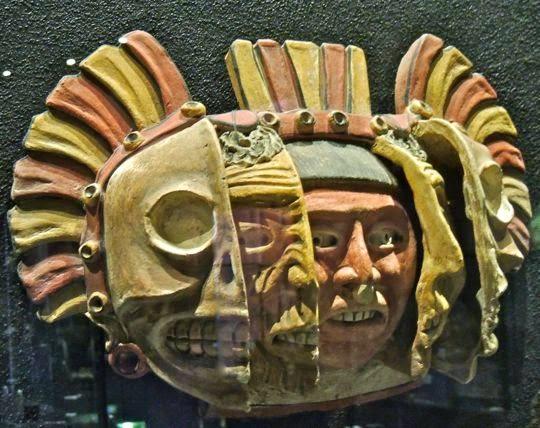 Culture azteque Masque des trois ages Museo Nacional de la Muerte Aguascalientes