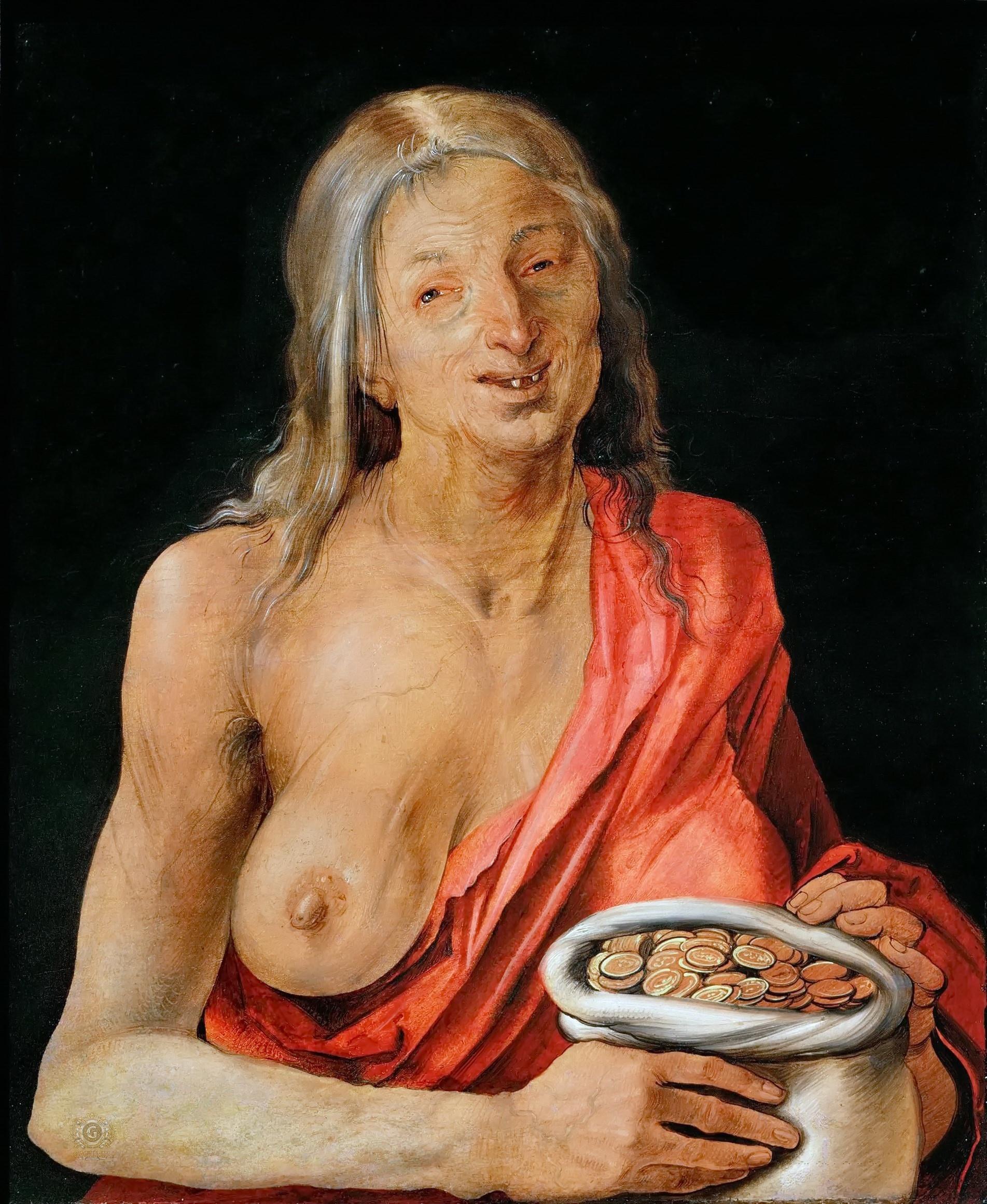 Durer 1507 Vanitas, Kunsthistorischesmuseum Vienne