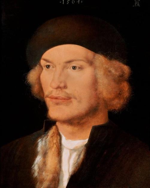 Durer 1507 portrait of a young man Kunsthistorischesmuseum Vienne