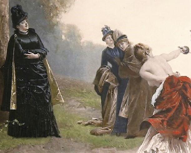 Emile-Antoine Bayard 1884 Une affaire d'honneur detail