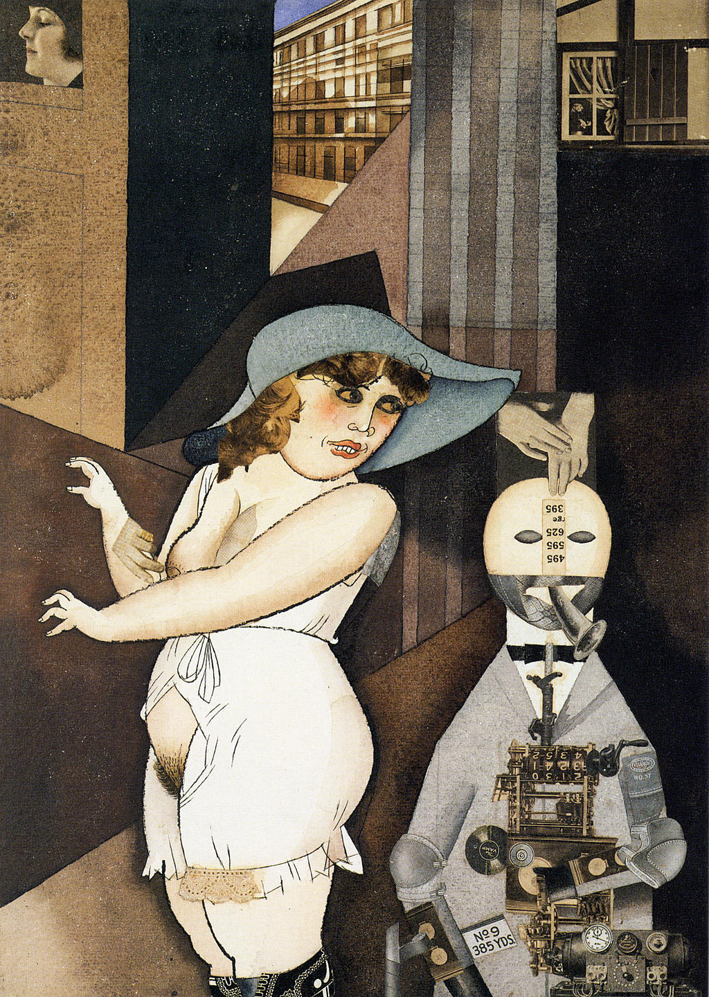 George Grosz, Daum marries her pedantic automaton George in May 1920, John Heartfield is very glad of it, Berlinische Galerie Der Dada No. 3 (April 1920)
