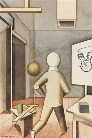 Grosz George 1921 Der neue Mensch aquarelle