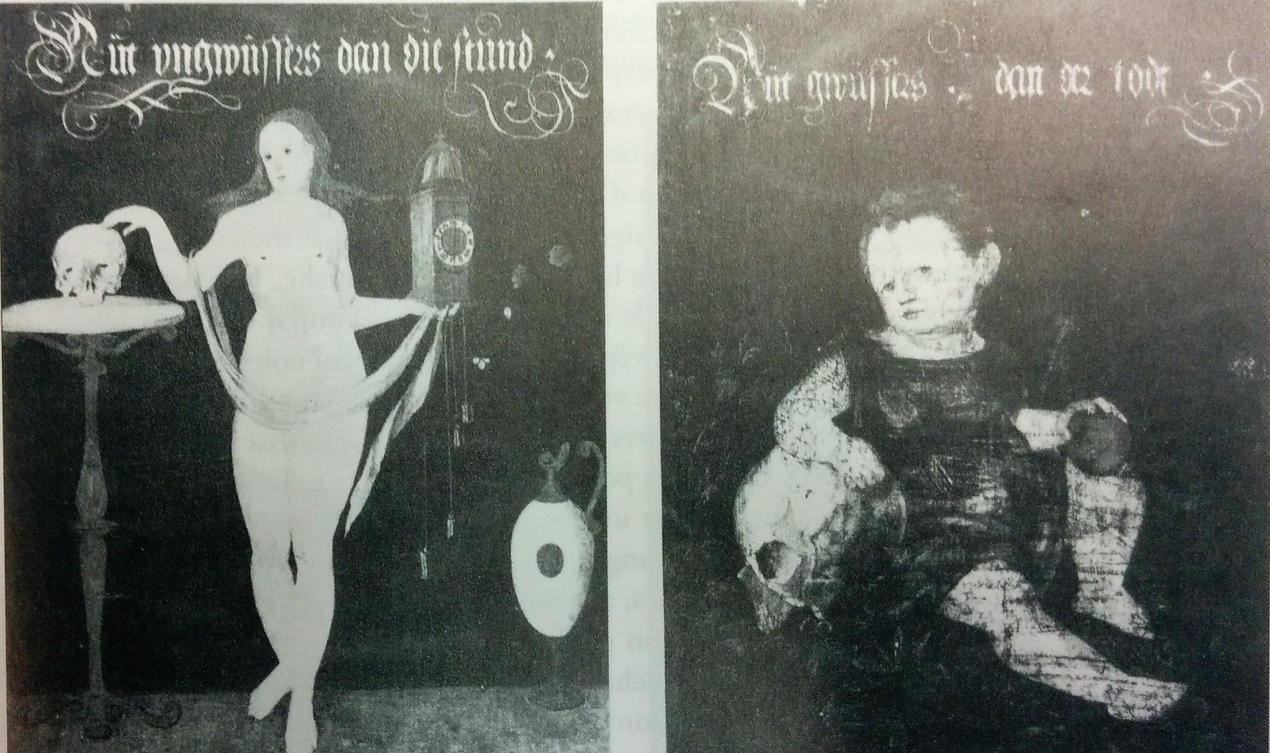 Heinrich Peyer et Barbara Schobinger, Abel et Tobias Stimmer,1566, detruit revers