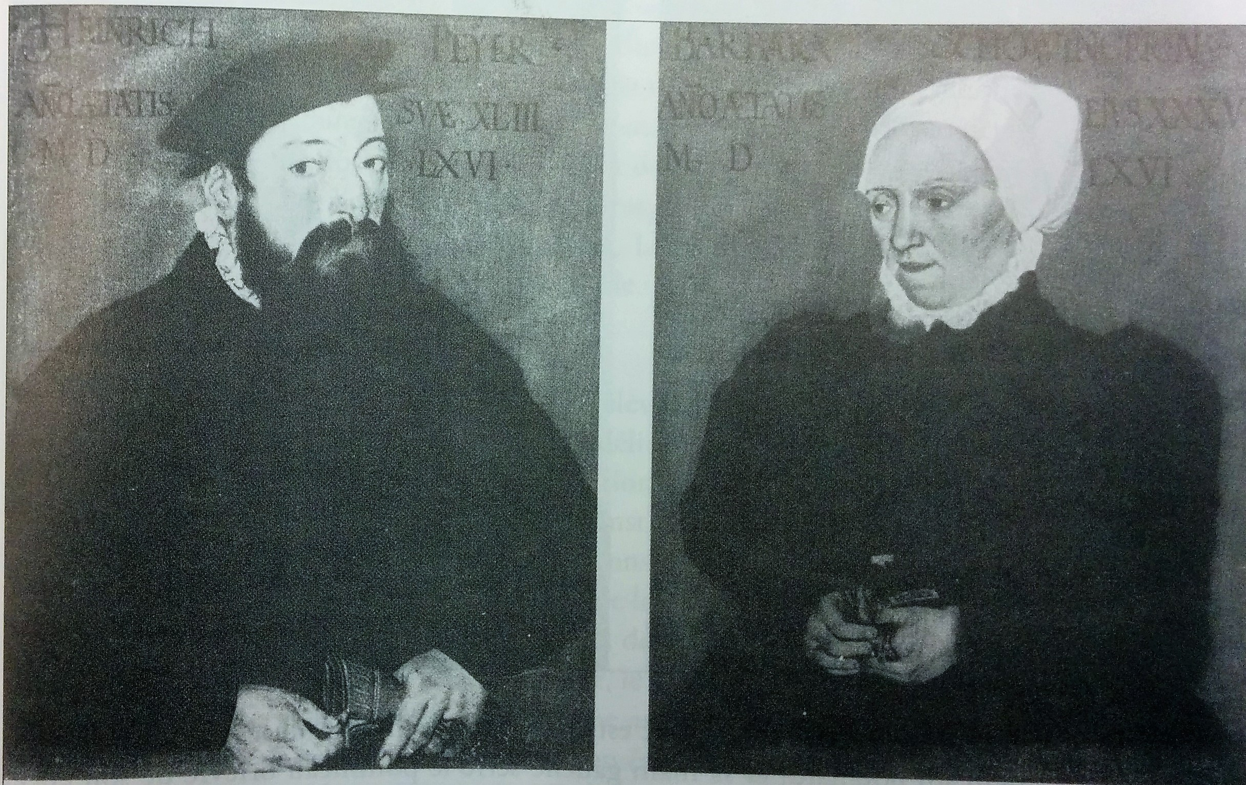 Heinrich Peyer et Barbara Schobinger, Abel et Tobias Stimmer,1566, detruit
