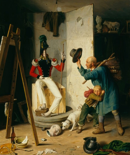 Heinrich von Rustige vers 1839 Le paysan dans l'atelier Stiftung Sammlung Volmer, Wuppertal