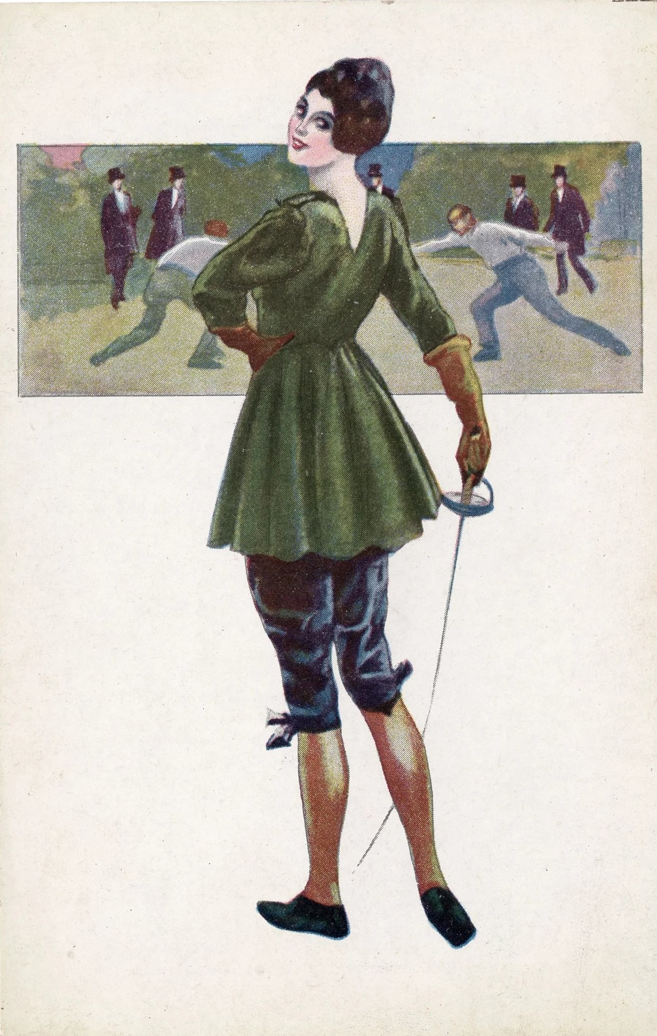 Italian-postcard dessin H Clemency