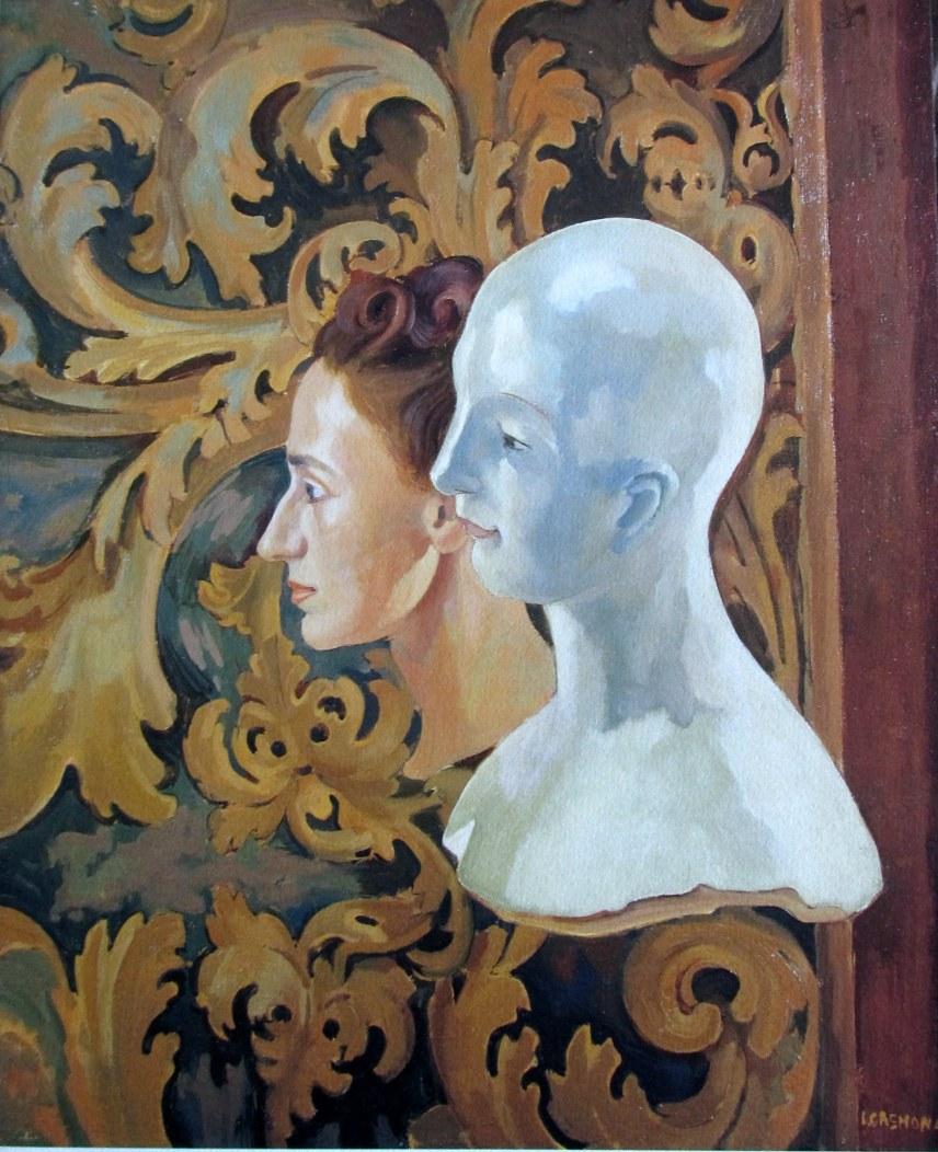 Italo Cremona 1944 Ritratto della moglie con manichino