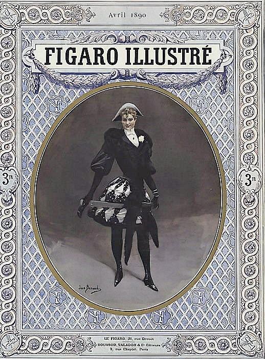 Jean Beraud 1890 A2 Arlequine Fin de Siecle Figaro