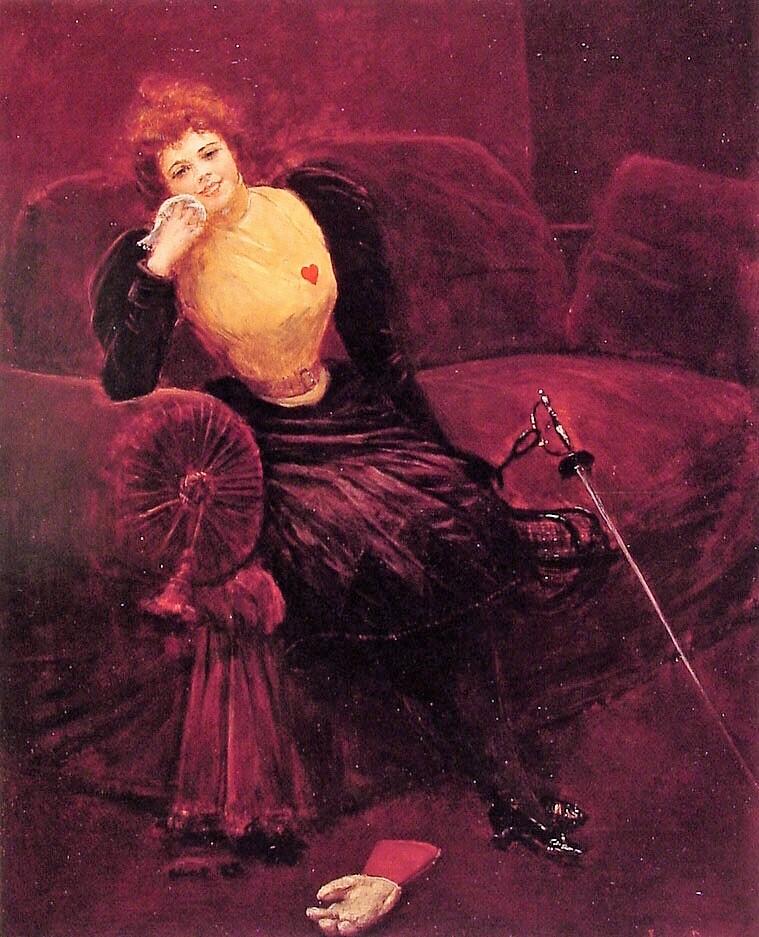 Jean Beraud 1895 ca Une escrimeuse Walters Art Museum de Baltimore