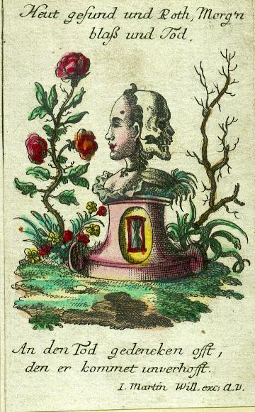 Johan Martin Will 1753-1800 Augsbourg Image pieuse Heut gefunfd und oth