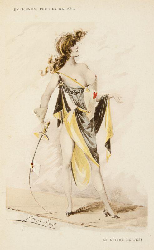 La lettre de defi Illustration de En scene.. pour la revue Par Japhet Paris, E. Bernard et Cie, 1901