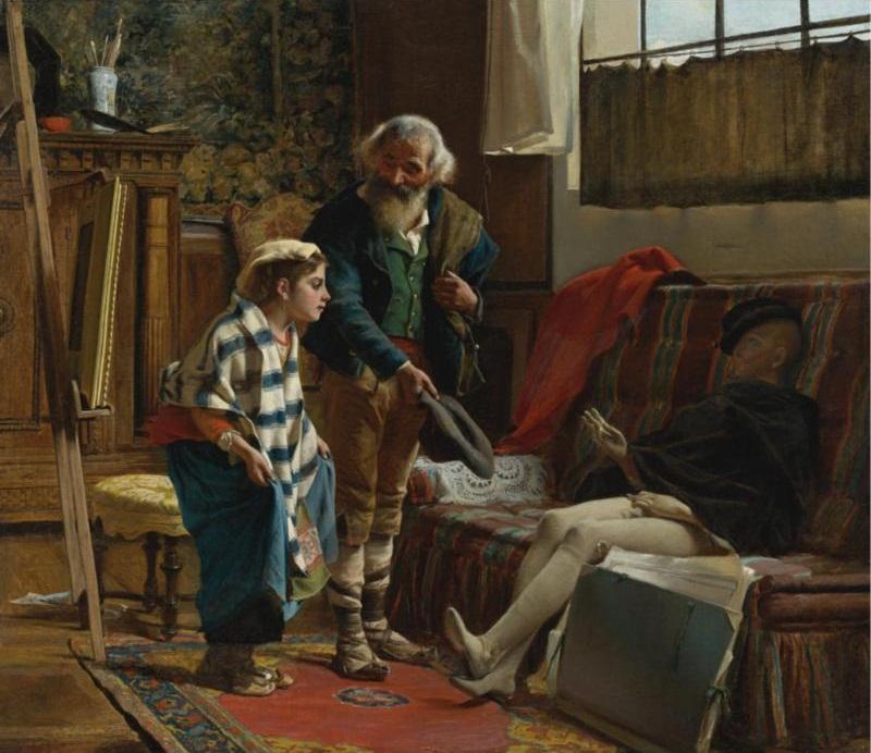 Luigi Bechi (Italian, 1830-1919) The Artist's Studio