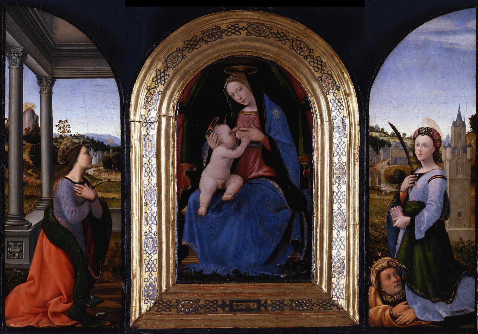 Mariotto di Bigio Albertinelli 1500 Museo Poldi Pezzoli Milan triptyque recto