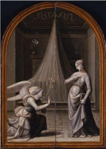 Mariotto di Bigio Albertinelli Annonciation 1500 Museo Poldi Pezzoli Milan triptyque volets