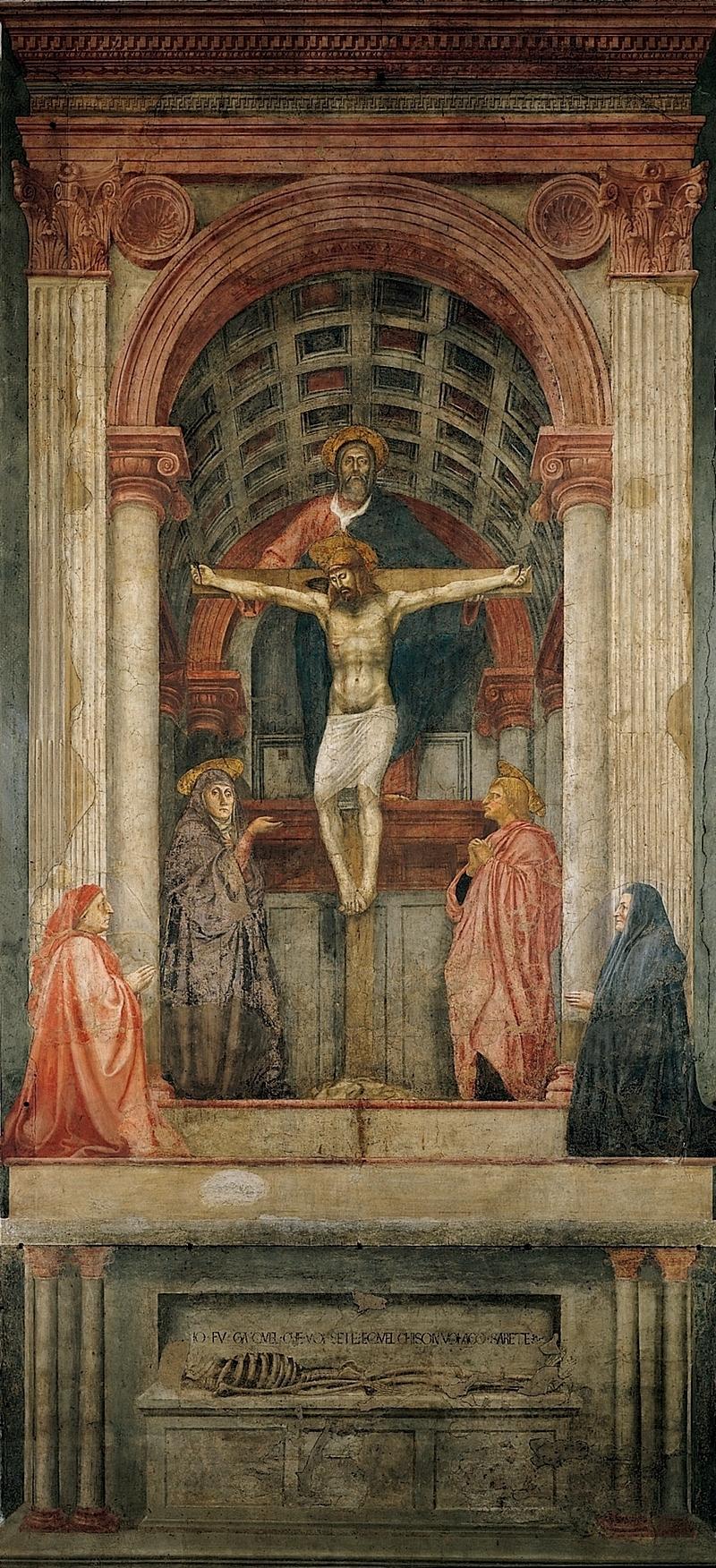 Masaccio Fresque de la Trinite 1426-28 Santa Maria Novella a Firenze